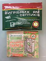 Средство для выгребных ям Доктор робик 106 + зеленый пакет для дачного туалета