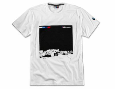 Мужская футболка BMW Motorsport Graphic T-Shirt, M8 GTE, Men, White