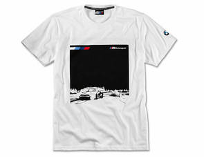 Мужская футболка BMW Motorsport Graphic T-Shirt, M8 GTE, Men, White