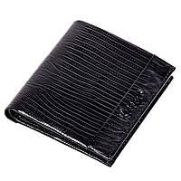 Зажим для денег кожаный черный Karya 0940-076