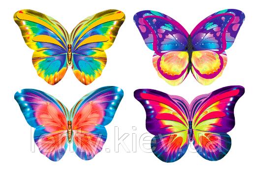 Набор бабочек №1 на двухстороннем скотче (40шт/уп- 4 вида, маленькикая упаковка)