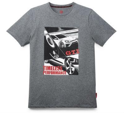 Мужская футболка Volkswagen GTI T-Shirt, Timeless Performance, Men's, Grey Melange