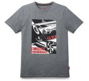 Мужская футболка Volkswagen GTI T-Shirt, Timeless Performance, Men's, Grey Melange