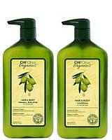 Набор Chi Olive Organics Hair And Body (шампунь+кондиционер) 355 мл*2