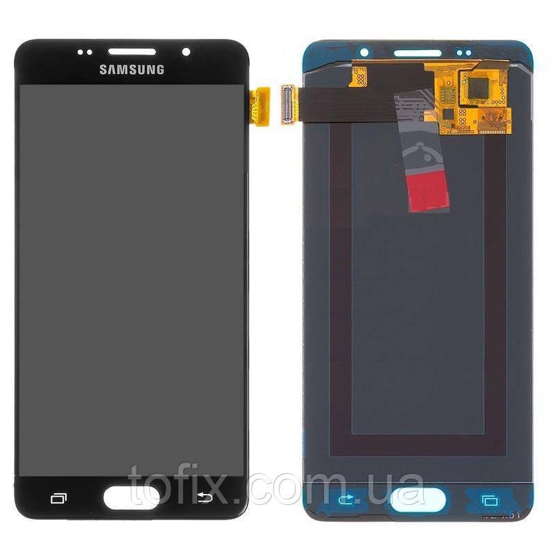 Дисплей для Samsung A510 Galaxy A5 (2016), модуль в сборе (экран и сенсор), OLED