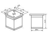 Опора (ніжка) квадратна регульована GIFF NA02 Н=50, 80, 100, 120, 150 алюміній, фото 4