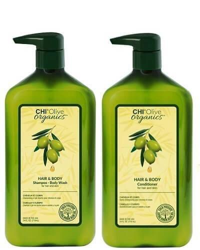 Набор Chi Olive Organics Hair And Body (шампунь+кондиционер) 780 мл*2