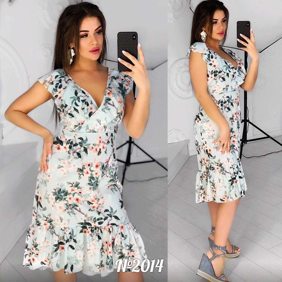 Женское стильное платье  АЦ2014 (бат)