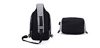 Городской рюкзак-антивор Bobby Mini с USB, Бобби, рюкзак через плечо Фиолетовый, фото 4