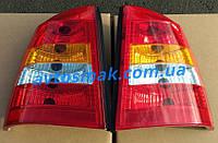 Фонарь задний для Opel Astra G седан '98-09 левый (MM) красно-белый