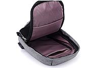 Городской рюкзак-антивор Bobby Mini с USB, Бобби, рюкзак через плечо Светло-синий, фото 2