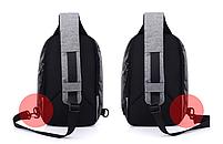 Городской рюкзак-антивор Bobby Mini с USB, Бобби, рюкзак через плечо Светло-синий, фото 3