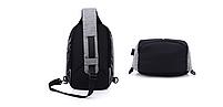 Городской рюкзак-антивор Bobby Mini с USB, Бобби, рюкзак через плечо Светло-синий, фото 4