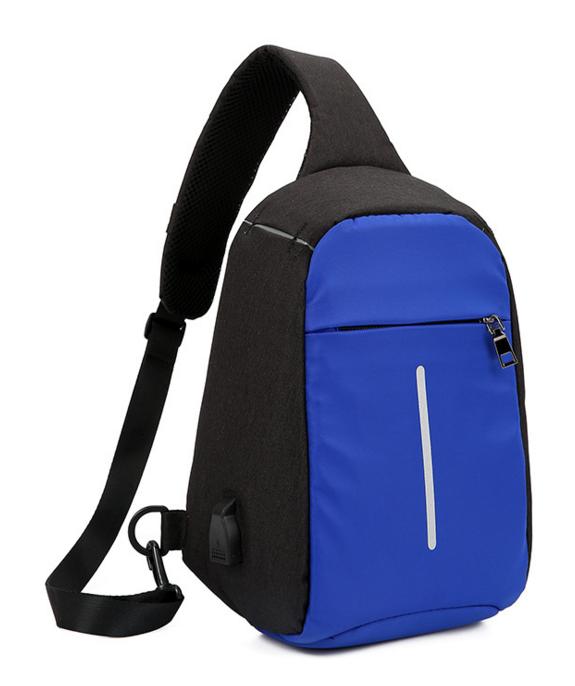 Городской рюкзак-антивор Bobby Mini с USB, Бобби, рюкзак через плечо Светло-синий