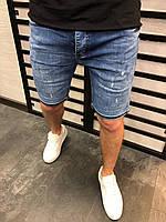 Мужские джинсовые шорты светло-синие 4274, фото 1