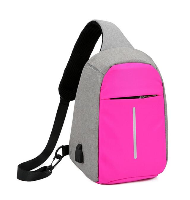 Городской рюкзак-антивор Bobby Mini с USB, Бобби, рюкзак через плечо Розовый