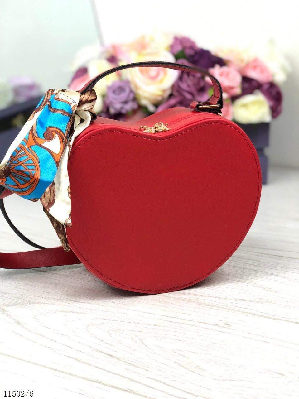 06fe25eecd25 Женская сумочка через плечо на длинном ремешке сумка клатч красный кожзам -  Интернет-магазин Seveni