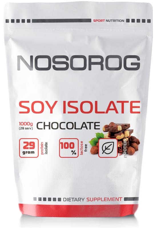 NOSOROG Soy Isolate Protein 1 kg (соевый изолят протеин; соевый протеин; растительный белок)