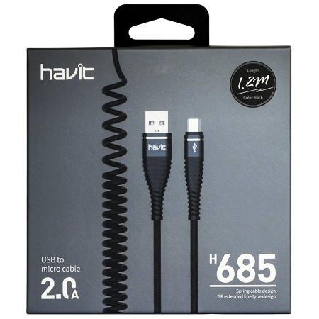 Кабель  Havit HV-H685 micro usb, black
