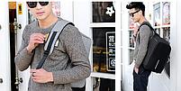 Рюкзак Bobby Бобби с защитой от карманников антивор USB разъем Серый, фото 6