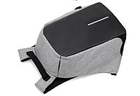 Рюкзак Bobby Бобби с защитой от карманников антивор USB разъем Серый, фото 7
