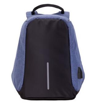 Рюкзак Bobby Бобби с защитой от карманников антивор USB разъем Синий