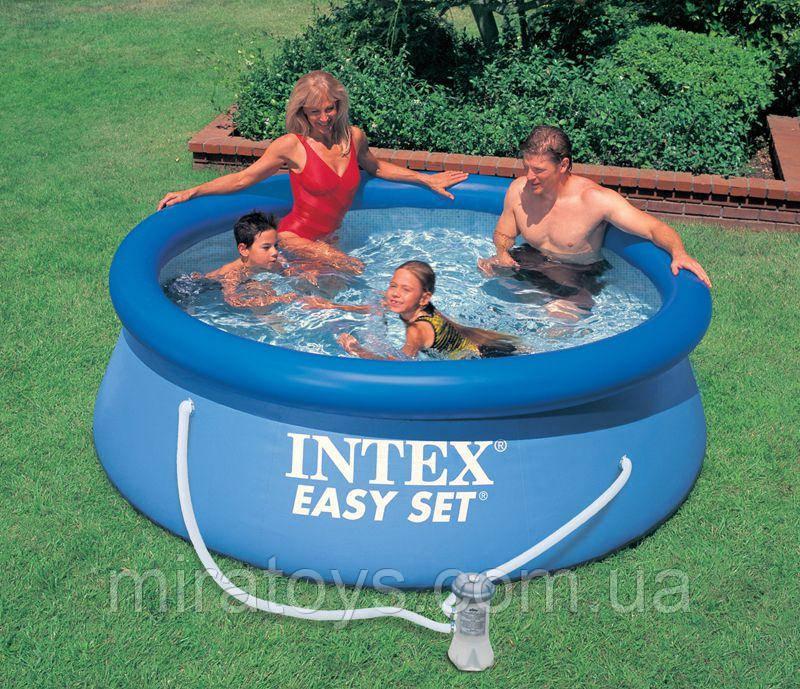 ✅Сімейний надувний басейн Intex 28112 244х76см + насос