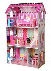 Кукольный домик EcoToys DH617 + 10 аксессуаров (8071)