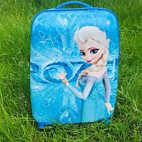 Детский чемодан для девочек на колесах Холодное сердце (Эльза)