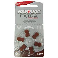 Батарейка Varta PR41(Type312)Extra RAYOVAC 1,45V(по 6шт,для слуховых аппаратов)
