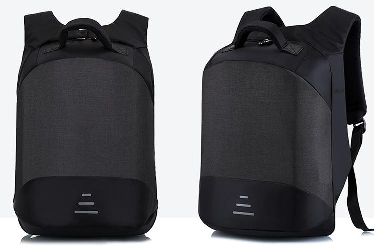 Городской рюкзак антивор с отделениям для ноутбука 15,6 USB Baibu Черный