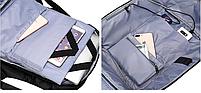 Городской рюкзак антивор с отделениям для ноутбука 15,6 USB Baibu Черный, фото 7