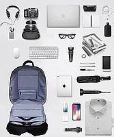 Городской рюкзак антивор с отделениям для ноутбука 15,6 USB Baibu Черный, фото 8