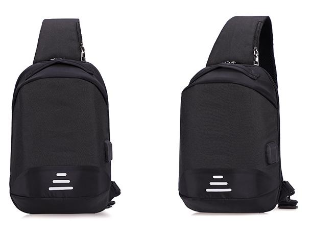 Сумочка-рюкзак антивор Baibu Mini с USB  рюкзак через плечо Черный