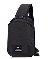 Сумочка-рюкзак антивор Baibu Mini с USB  рюкзак через плечо Черный, фото 5