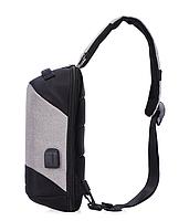 Сумочка-рюкзак антивор Baibu Mini с USB  рюкзак через плечо Черный, фото 7