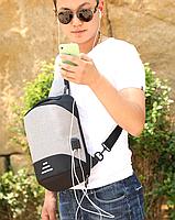 Сумочка-рюкзак антивор Baibu Mini с USB  рюкзак через плечо Черный, фото 8