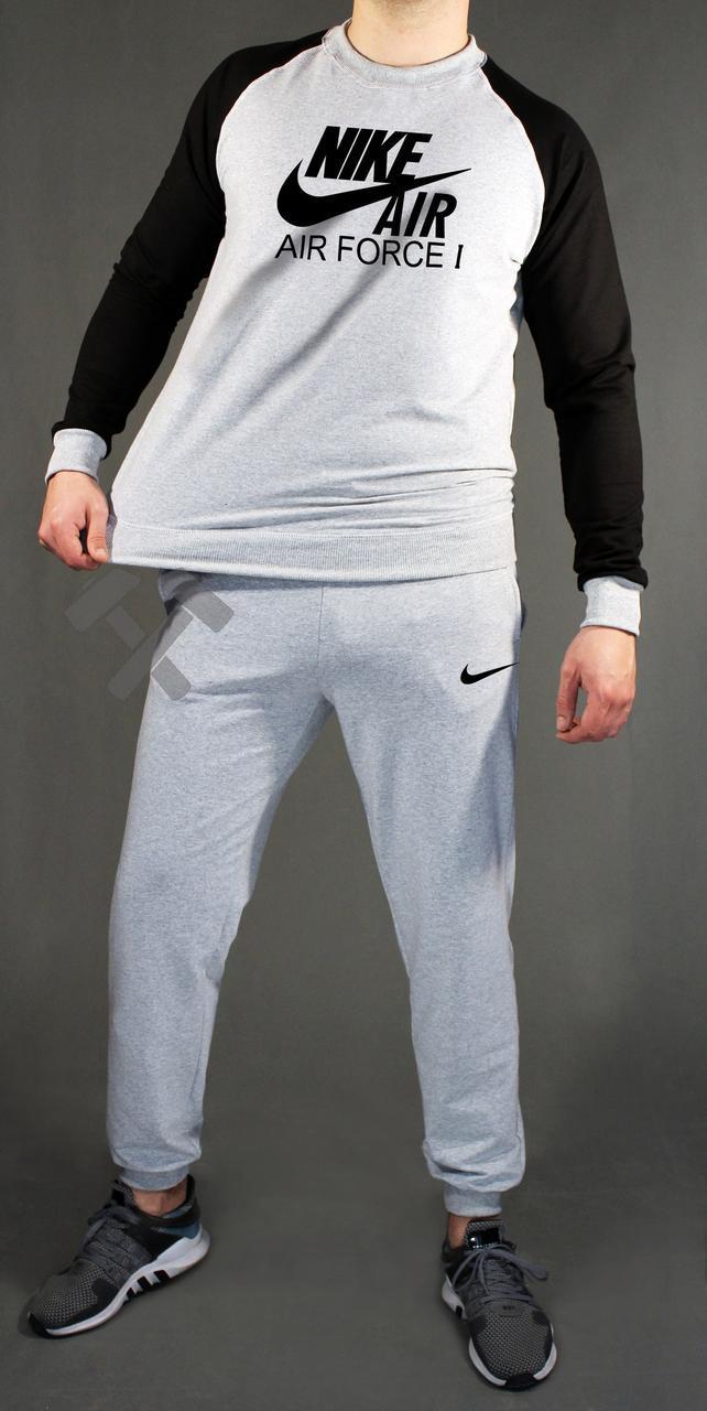 8aeed8d2 Мужской спортивный костюм Nike, Найк, черно-серый, черный верх, серый низ