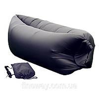 Диван мешок надувной матрас Ламзак Lamzac Air Cushion Черный