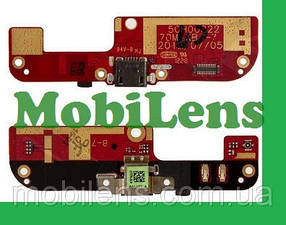 HTC Desire 200, HTC 200 Шлейф коннектора зарядки, мікрофона з компонентами