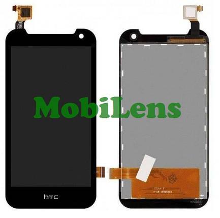 HTC Desire 310, HTC 310, (128*63.5мм) Дисплей+тачскрин(модуль) черный, фото 2