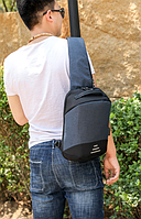 Сумочка-рюкзак антивор Baibu Mini с USB  рюкзак через плечо Синий, фото 2