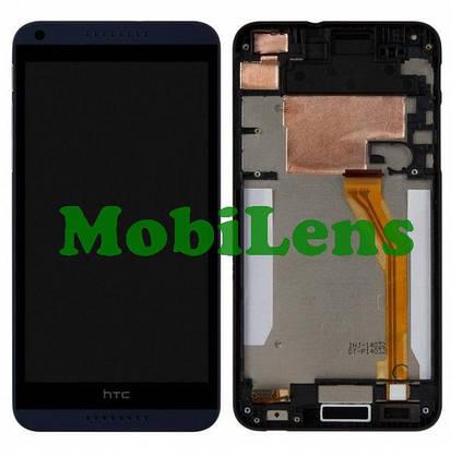 HTC Desire 816, HTC 816, 816w Дисплей+тачскрин(модуль) в синей рамке, фото 2