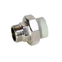 Муфта PPR разборная с НР 20х1/2 280/70\35 GRE Aqua Pipe