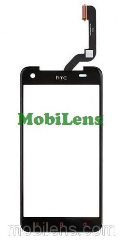 HTC X920e, Butterfly, (высота 141мм) Тачскрин (сенсор) черный