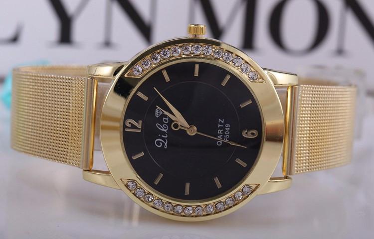 Годинники жіночі Dibai gold-black (чорний)