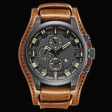 Часы мужские Curren Aviator brown-black, фото 2