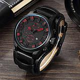 Часы мужские Curren Aviator black-red, фото 3