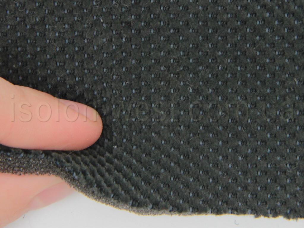 Автоткань темный, Ц.1.6 V-Gray, для центральной части автомобиля, на поролоне и сетке