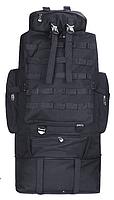 Тактический туристический  рюкзак  раздвижной на 80-100л TacticBag Черный, фото 2